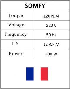 Somfy-Motor-Table